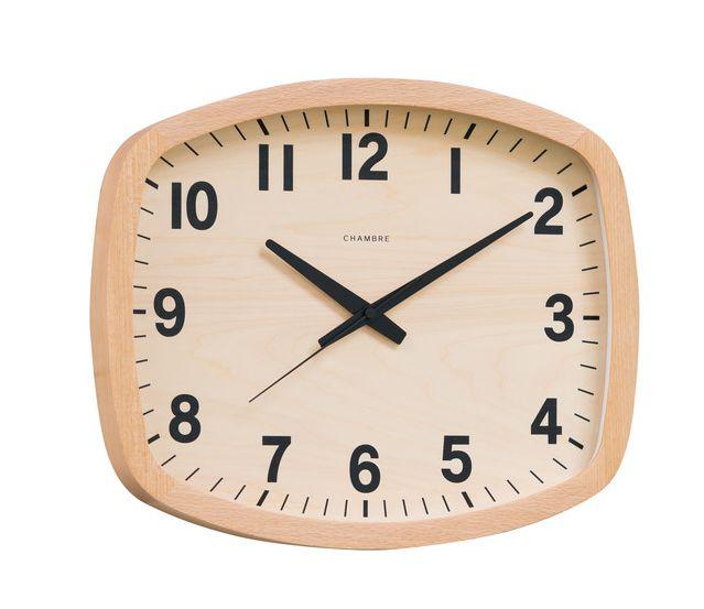 シャンブル掛け時計 R-SQUARE CLOCK CHAMBRE掛け時計  CH-028BC  ナチュラル