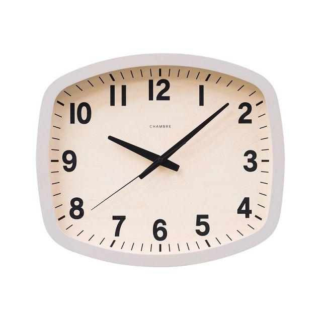 シャンブル掛け時計 R-SQUARE CLOCK CHAMBRE掛け時計  CH-028GY グレイ