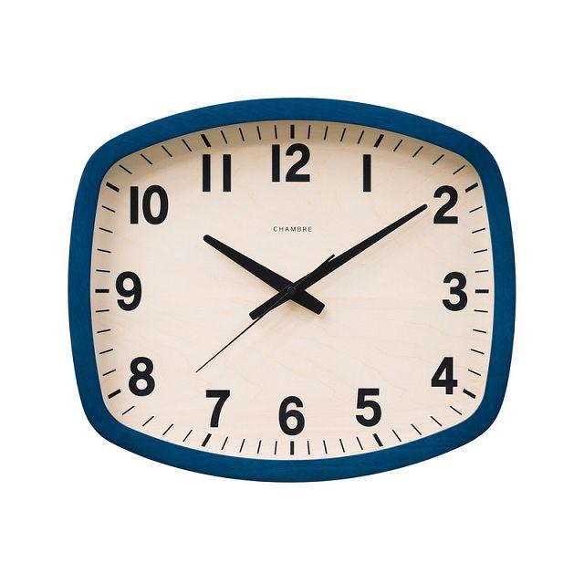 シャンブル掛け時計 R-SQUARE CLOCK CHAMBRE掛け時計  CH-028NV  ネイビー