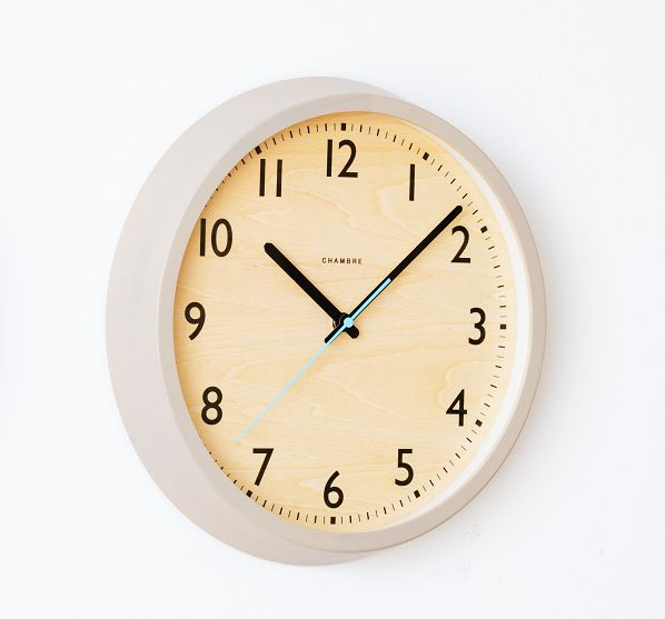 DROP CLOCK シャンブル掛け時計 電波時計 ウォームグレイ 北欧 掛け時計  CHAMBRE掛け時計  CH-039WG