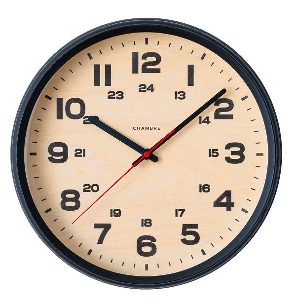 BRAM CLOCK ブルックリンスタイル 掛け時計  CHAMBRE CH-050BK ブラック