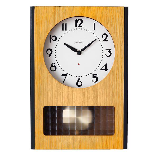 BC PENDULUM CLOCK CHAMBRE掛け時計 OAK シャンブル掛け時計 GLASS振り子時計  CH051OA