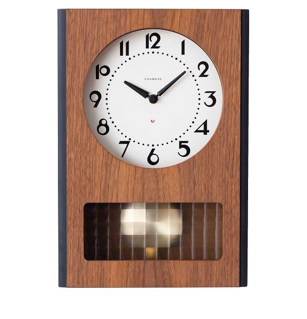 BC PENDULUM CLOCK CHAMBRE掛け時計 WALNUT シャンブル掛け時計 GLASS振り子時計  CH051WN