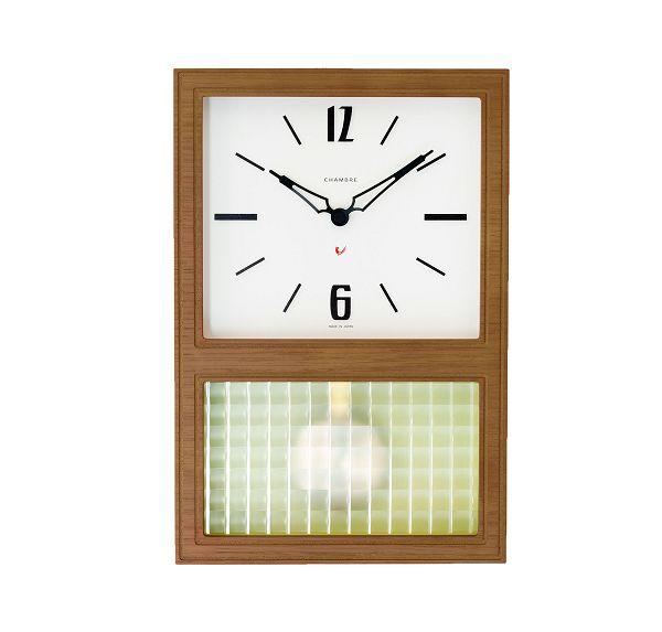 CHAMBRE掛け時計 WALNUT シャンブル掛け時計 GLASS振り子時計  CH052WN