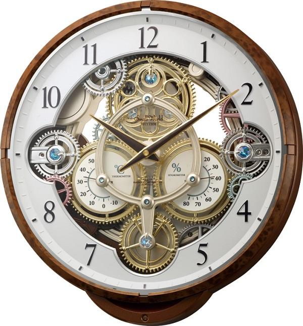 からくり時計 スモールワールド シーカー 名入れ4MN515RH23 リズム時計 RHYTHM からくり電波時計 ギフト 記念品 報時 プレゼント 熨斗【楽ギフ_のし】【楽ギフ_メッセ入力】【楽ギフ_名入れ】