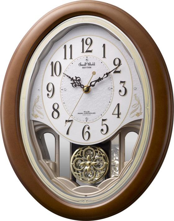 リズム時計 RHYTHM からくり時計 アミュージングクロック スモールワールド セりーナ 4MN519RH06 リズム時計 【楽ギフ_のし】【楽ギフ_メッセ入力】【楽ギフ_名入れ】