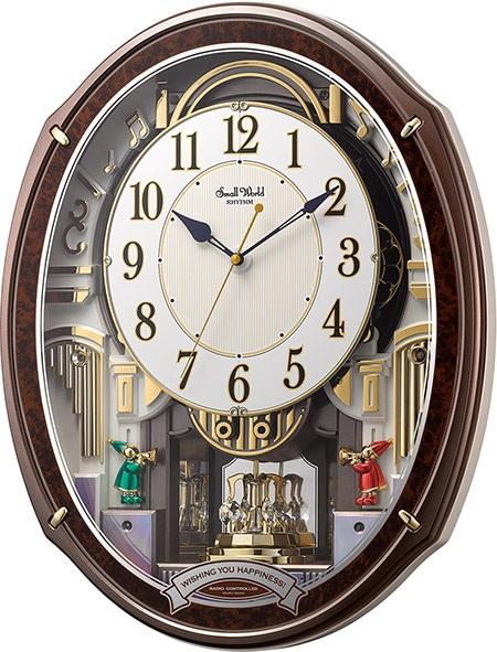 30%off からくり時計 壁掛け スモールワールド アルディ 4MN545RH23 リズム時計 掛け時計 壁掛け時計 報時 電波時計 名入れ 文字入れ