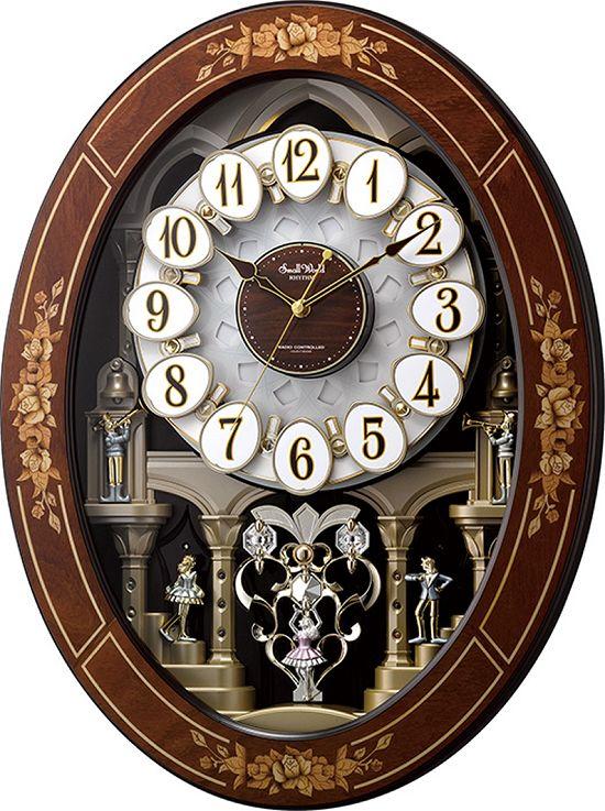 からくり時計 壁掛け スモールワールド レガロ 4MN546RH06 30%off 壁掛け時計 掛け時計 名入れ リズム時計 お洒落 ギフト 送料無料