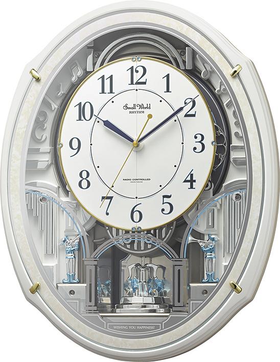 30%off からくり時計 壁掛け スモールワールド アルディN 4MN553RH03 リズム時計 掛け時計 壁掛け時計 報時 電波時計 名入れ
