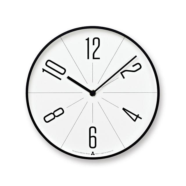 Lemnos壁掛け時計 レムノス掛け時計 GUGU ブラック AWA13-02BK