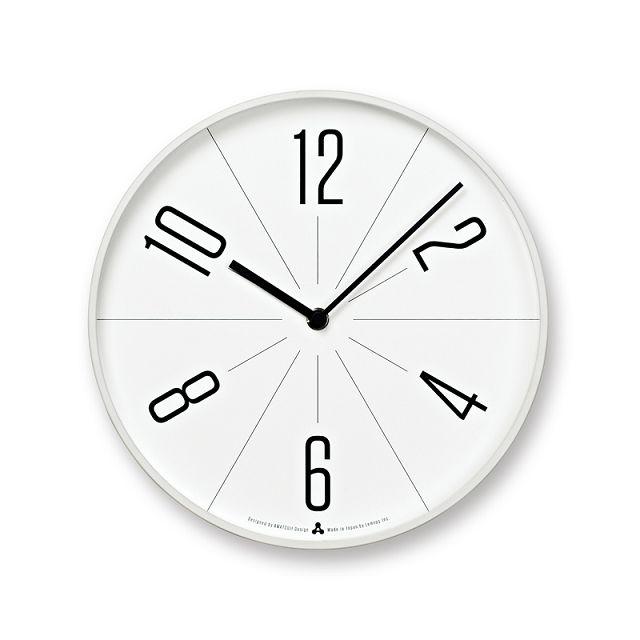 Lemnos壁掛け時計 レムノス掛け時計 GUGU ホワイト AWA13-02WH