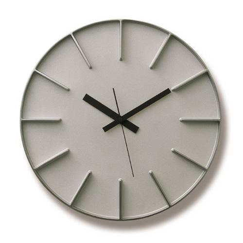 Lemnosレムノス掛け時計 EDGE CLOCK アルミニウム AZ-0115AL Lemnos掛け時計