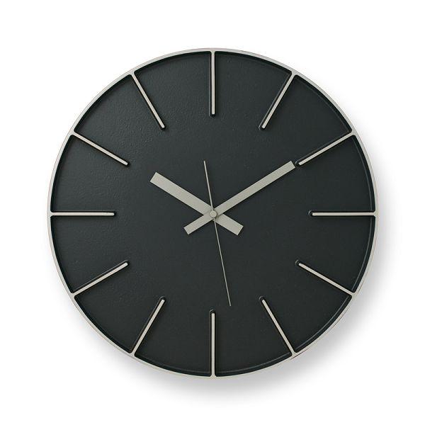Lemnosレムノス掛け時計 EDGE CLOCK ブラック AZ-0115BK Lemnos掛け時計