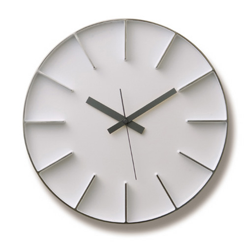 Lemnosレムノス掛け時計 EDGE CLOCK ホワイト AZ-0115WH Lemnos掛け時計