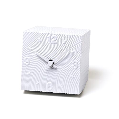 Lemnos レムノス 置き時計 cube AZ10-17WH