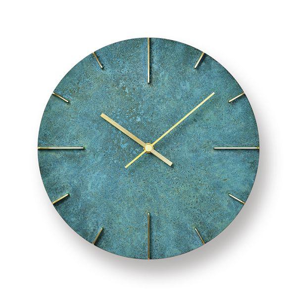 Lemnos レムノス掛け時計 Quaint クエィント 真鍮 斑紋ガス青銅色 AZ15-06GN