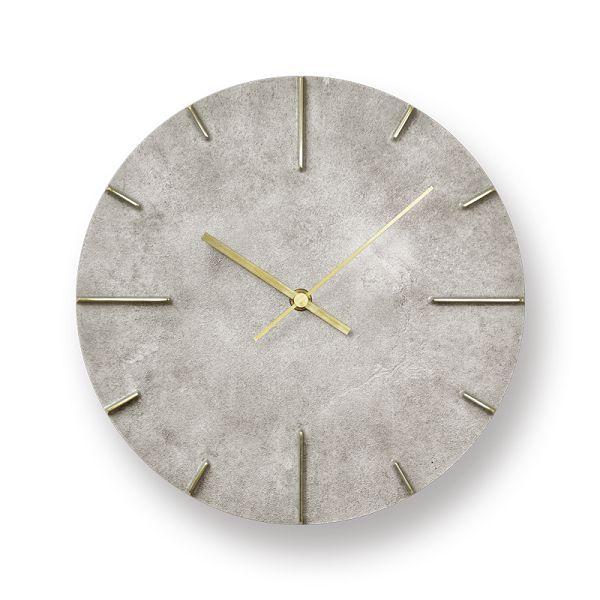 Lemnos レムノス掛け時計 Quaint クエィント 真鍮 斑紋純銀色 AZ15-06SL