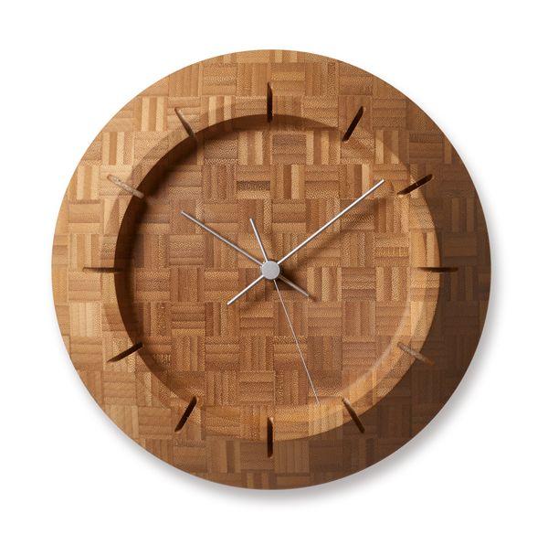 Lemnos レムノス 掛け時計 竹の壁掛け時計 Take-Clock FE17-09