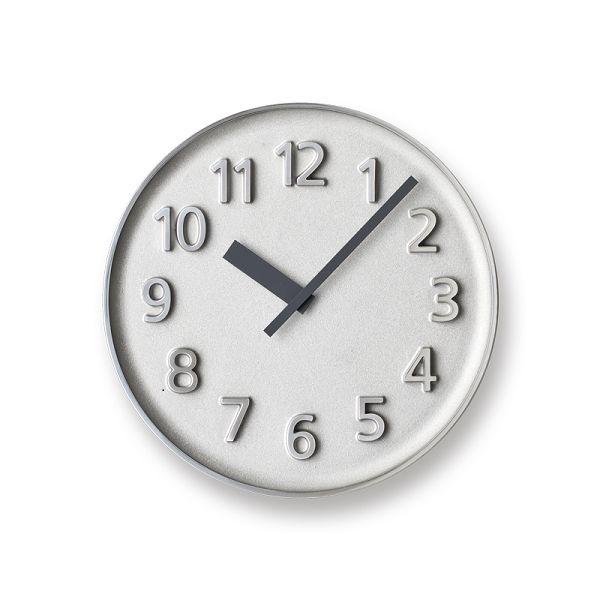 Lemnos レムノス掛け時計  KK15-08AL アルミニウム Founder Clock アルミ