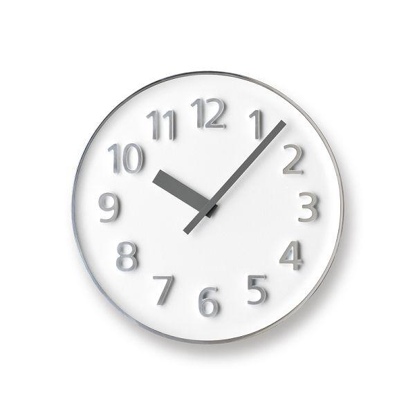 Lemnos レムノス掛け時計  KK15-08WH アルミニウム Founder Clock ホワイト