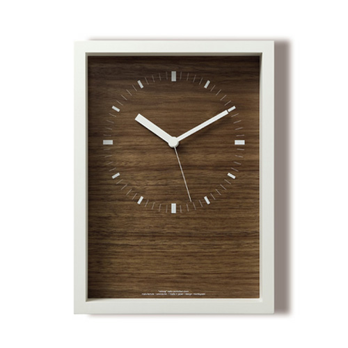 【Lemnos】 レムノス 掛け時計LC07-07LWH oblong