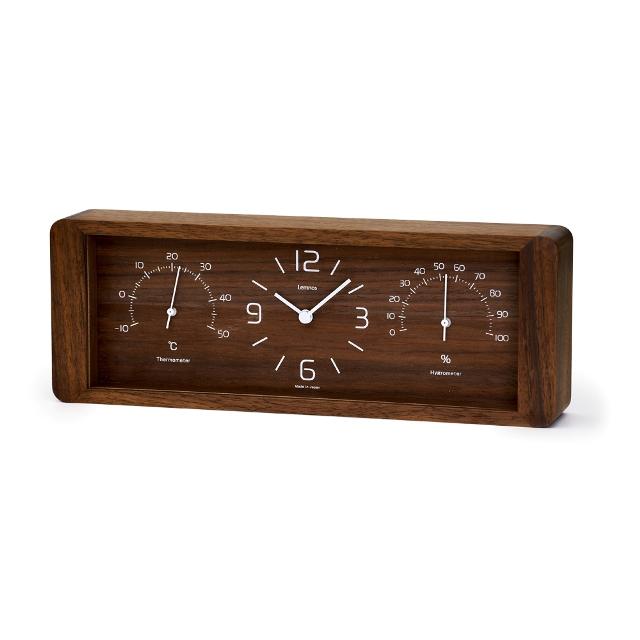 【Lemnos】レムノス温湿度置き時計 ヨウカン LC11-06