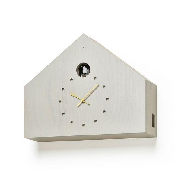 鳩時計 カッコークロック はと時計 ハト時計 Lemnos レムノス カッコー掛け時計 CUCULO FELICE グレイ  MAA18-01GY