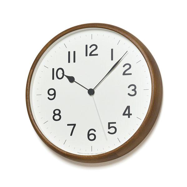 Lemnos レムノス 電波掛け時計 ROOT ブラウン NY18-06BW φ330mm
