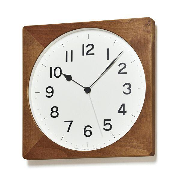 Lemnos レムノス 電波掛け時計 ROOT ブラウン NY18-07BW スクエア