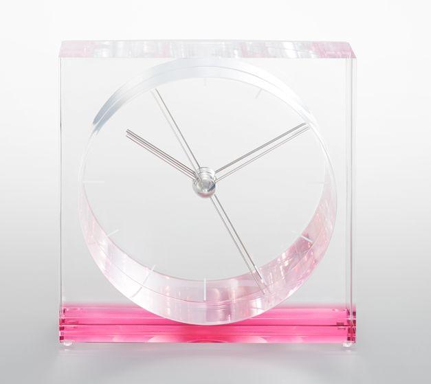 【Lemnos】ユニークなデザイン!Lemnos レムノス アクリル置き時計 IRIS イリス ピンクSSL14-09PK
