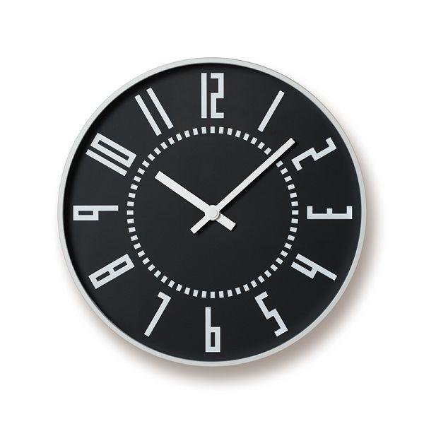 Lemnos レムノス掛け時計 TIL16-01BK  EKI CLOCK エキクロック ブラック