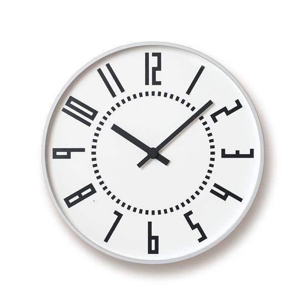 Lemnos レムノス掛け時計 TIL16-01WH  EKI CLOCK エキクロック ホワイト