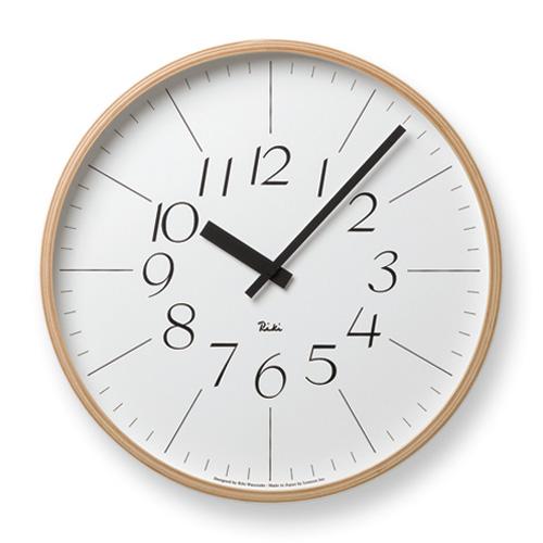 【レムノス】Lemnos掛け時計 Riki CLOCK WR-0312L レムノス壁掛け時計