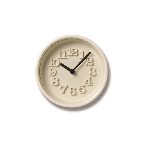 Lemnos レムノス掛け時計 小さな時計 WR07-15IVアイボリー Lemnos掛け時計