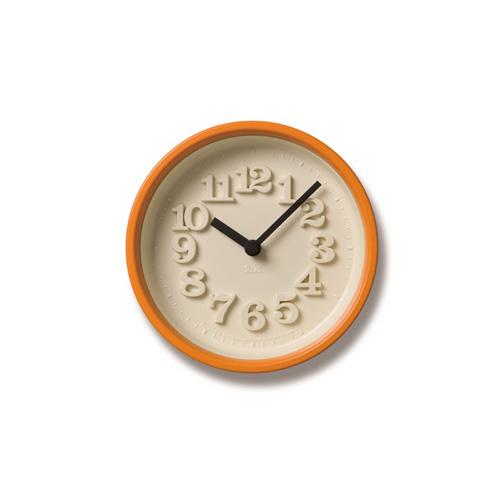 Lemnos レムノス掛け時計 小さな時計 WR07-15ORオレンジ Lemnos掛け時計