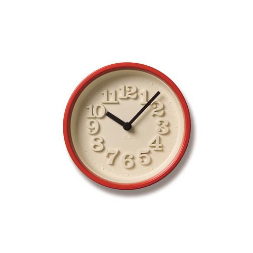 Lemnos レムノス掛け時計 小さな時計 WR07-15REレッド Lemnos掛け時計