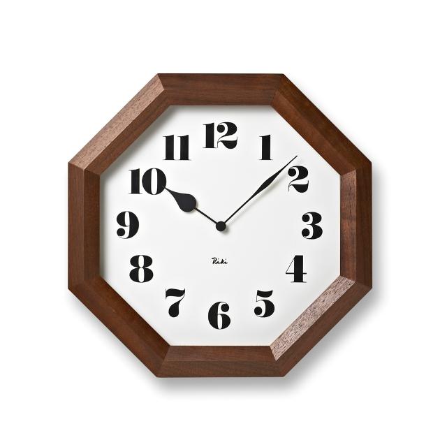 【Lemnos】レムノス掛け時計 WR11-01八角の時計