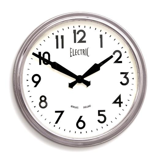 ニューゲート掛け時計 50's Electric クローム GWL44PA NEWGATE掛け時計 ニューゲート時計【送料無料】