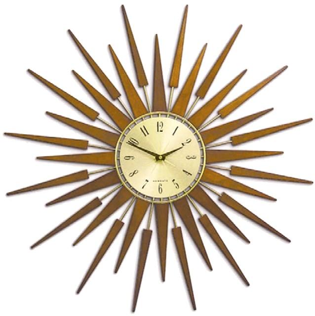 ニューゲート掛け時計 SUNBURSTブラウン NEWGATE掛け時計【送料無料】 【楽ギフ_のし】【楽ギフ_メッセ入力】【楽ギフ_名入れ】