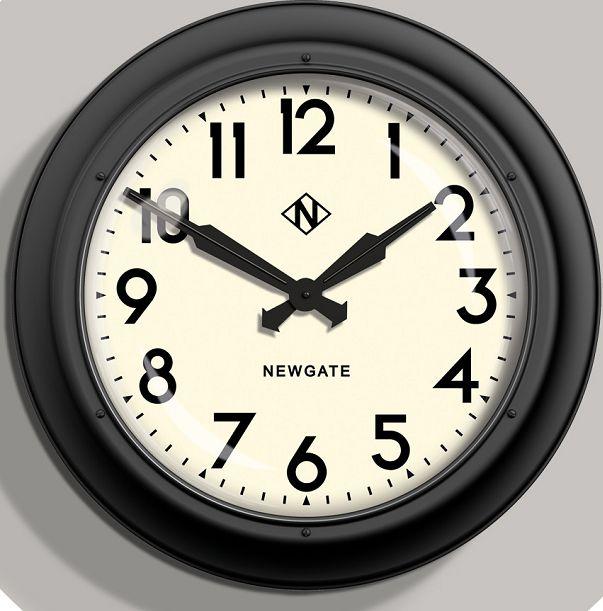 NEW GATEニューゲート掛け時計 Giant Electric ブラック GIANT INDUSTRIAL STATION WALL CLOCK AWN91MK 【楽ギフ_のし】【楽ギフ_メッセ入力】【楽ギフ_名入れ】