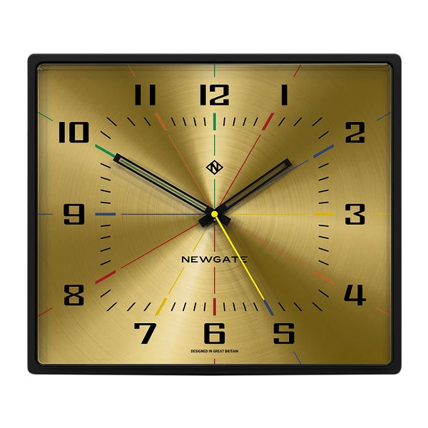 NEW GATEニューゲート掛け時計 レクタングル Box Office Clock - Gold BOXOF686CK【送料無料】