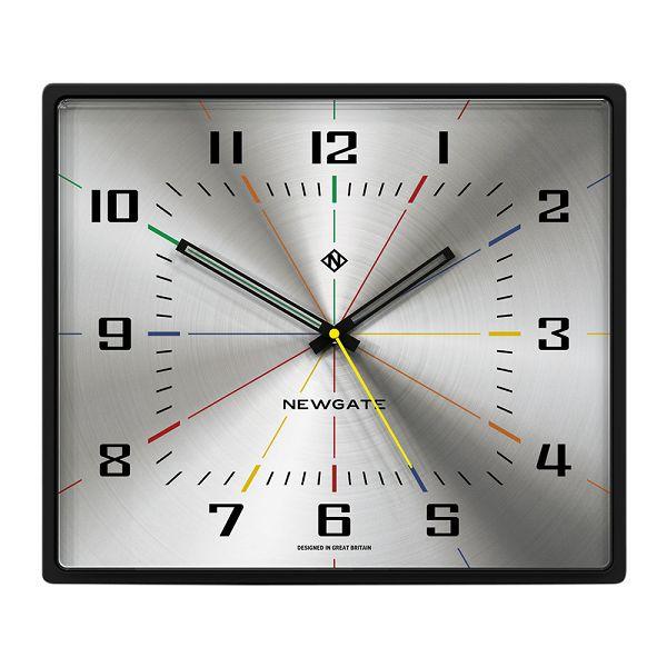 NEW GATE ニューゲート掛け時計 レクタングル Box Office Clock - Silver BOXOF701CK ニューゲート時計【送料無料】