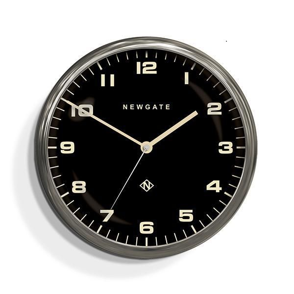 NEW GATEニューゲート掛け時計 Chrysler Wall Clock Burnished Steel Black Dial CWC-BSBK ニューゲート時計【送料無料】