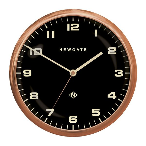 NEW GATE ニューゲート掛け時計 Chrysler Wall Clock Radial Copper ブラック CWC-RCBK ニューゲート時計【送料無料】