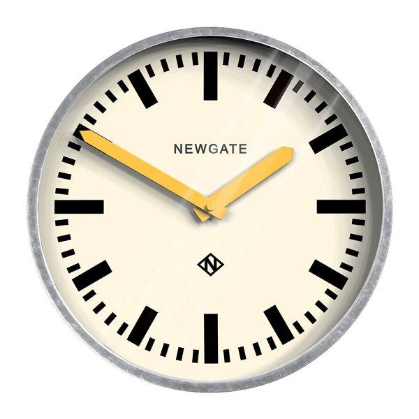 レトロなステーションクロック Galvanised Wall Clock Yellow Hands NEW GATE ニューゲート掛け時計 LGWC-YH ニューゲート時計【楽ギフ_のし】【楽ギフ_メッセ入力】【楽ギフ_名入れ】