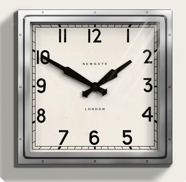 ニューゲート掛け時計 QUAD WALL CLOCK クロ―ム QUAD42CH NEWGATE掛け時計 【送料無料】 【楽ギフ_のし】【楽ギフ_メッセ入力】【楽ギフ_名入れ】