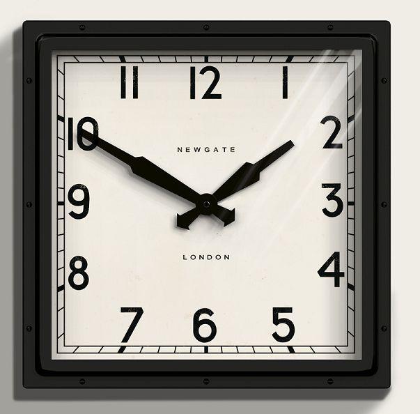ニューゲート掛け時計 QUAD WALL CLOCK ブラック QUAD42K NEWGATE掛け時計【送料無料】【楽ギフ_のし】【楽ギフ_メッセ入力】【楽ギフ_名入れ】
