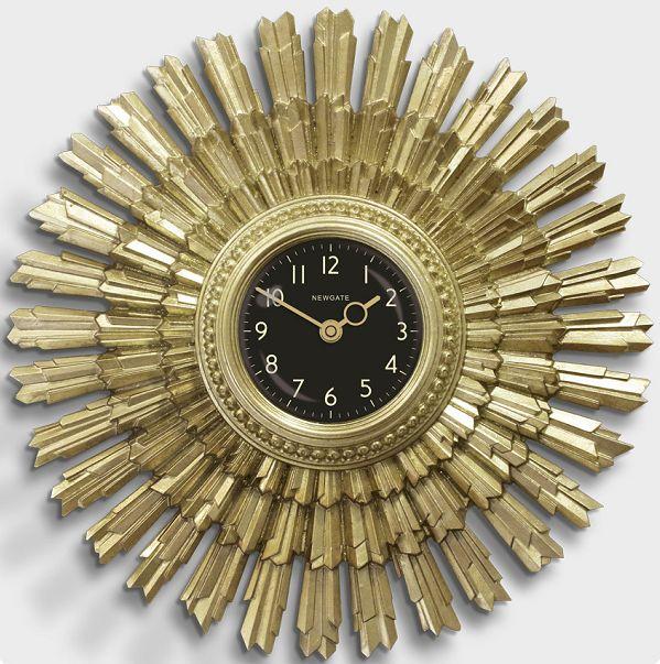 斬新なデザインで壁面を飾る 掛け時計 THE SUNBLAZE ART DECO SUNBURST NEW GATE(ニューゲート)【送料無料】 【楽ギフ_のし】【楽ギフ_メッセ入力】【楽ギフ_名入れ】