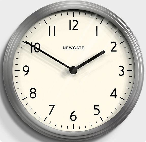 NEW GATEニューゲート掛け時計 Spy Clock - Brushed Steel SPY-BSS ニューゲート時計【送料無料】