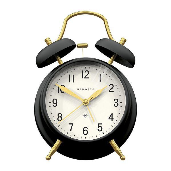 NEW GATEニューゲート アラームクロック ダブルベル Brick Lane Alarm Clock - Black/Brass BLAC-BB